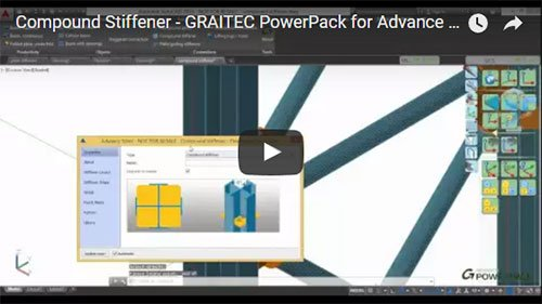 GRAITEC PowerPack for Advance Steel - Compound Stiffeners