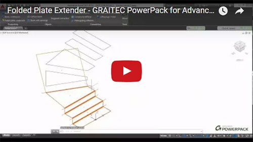 GRAITEC PowerPack for Advance Steel - Folded Plate Extender