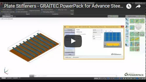 GRAITEC PowerPack for Advance Steel - Grid Stiffeners