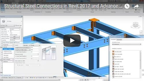 Structural Steel Connections in Revit 2017 and Advance Steel 2017