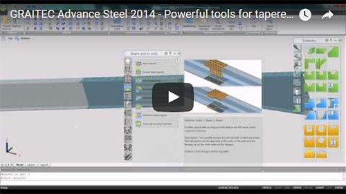 NEW - Advance Steel 2014 - Powerful tools for tapered beams for the PEB market