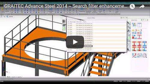 NEW - Advance Steel 2014 - Search filter enhancements