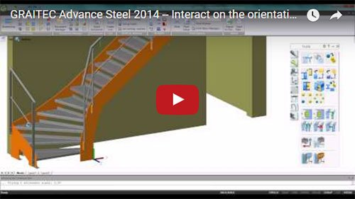 NEW - Advance Steel 2014 - Interact on the orientation of the views on drawings