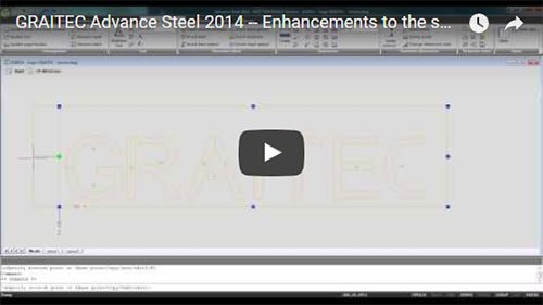 NEW - Advance Steel 2014 - Enhancements to the smart dimensions on drawings