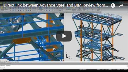 Direct link between Advance Steel and BIM Review from AceCAD