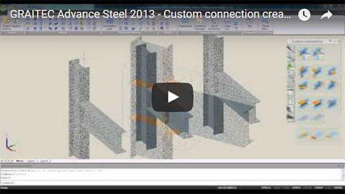 Advance Steel 2013 - Custom connections