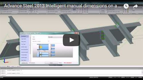 Advance Steel 2013 - Intelligent user dimensions on workshop drawings