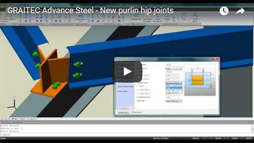 Advance Steel 2013 - New purlin hip joints