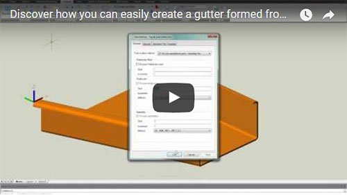 Discover how you can easily create a gutter formed from a folded plate with Advance Steel!