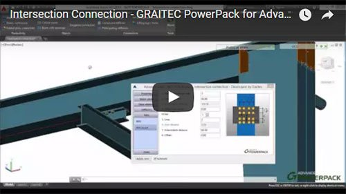 Graitec PowerPack for Advance Steel - Intersection Connection