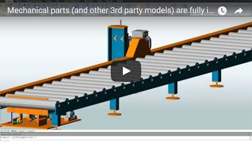 Discover how easy mechanical parts (and other 3rd party models) are fully integrated within your 3D AS model