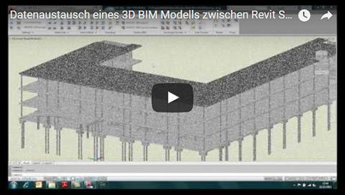 Transfer a 3D BIM model from REVIT Structure 2012 to GRAITEC Advance Steel