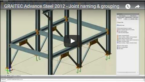 Advance Steel 2012 - Joint naming & grouping