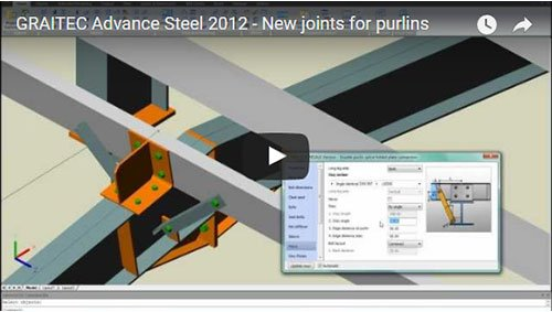 Advance Steel 2012 - New joints for purlins