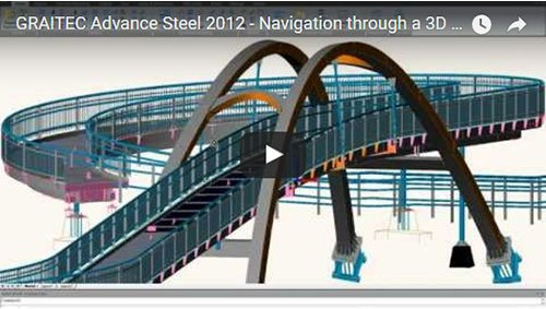 Advance Steel 2012 - Navigation through a 3D model