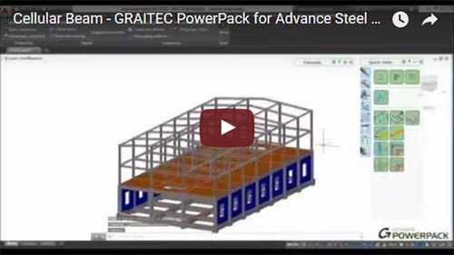 Graitec PowerPack for Advance Steel - Cellular Beam