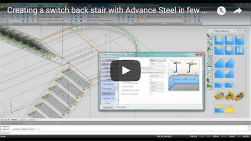 Creating a switch back stair with Advance Steel in few minutes
