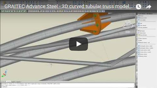 3D curved tubular truss modeling and unwrap drawing presentation