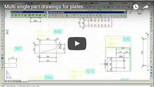 Multi single part drawings for plates