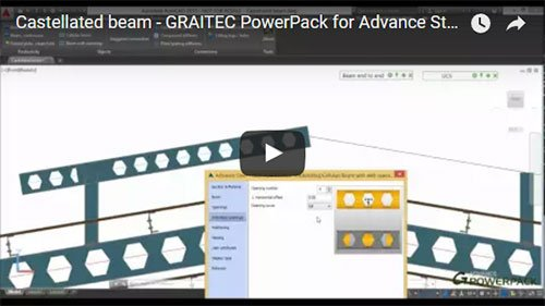 Graitec PowerPack for Advance Steel - Castellated beam