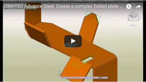 Create a complex folded plate within a few seconds