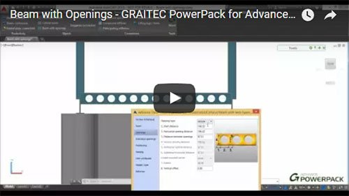 Graitec PowerPack for Advance Steel - Beam with Openings