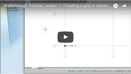 Walkthrough Tutorial, Lesson 1: Creating a building grid
