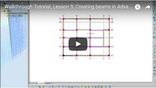 Walkthrough Tutorial, Lesson 5: Creating beams