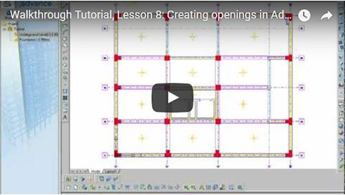 Walkthrough Tutorial, Lesson 8: Creating openings