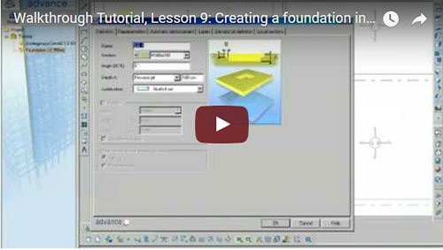 Walkthrough Tutorial, Lesson 9: Creating a foundation