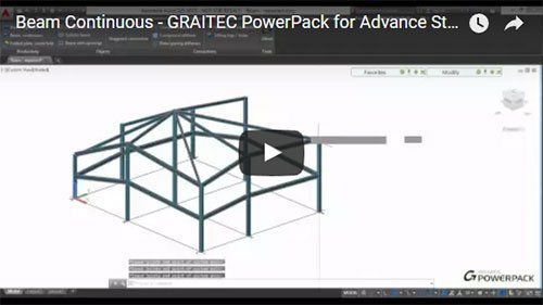 GRAITEC PowerPack for Advance Steel - Beam Continuous