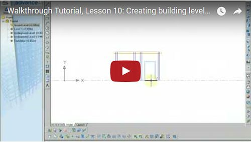Walkthrough Tutorial, Lesson 10: Creating building levels