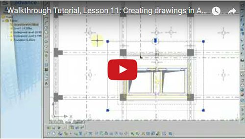 Walkthrough Tutorial, Lesson 11: Creating drawings