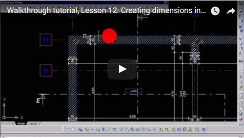 Walkthrough Tutorial, Lesson 12: Creating dimensions