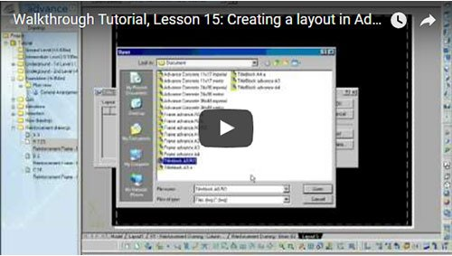 Walkthrough Tutorial, Lesson 15: Creating a layout