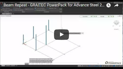 GRAITEC PowerPack for Advance Steel - Beam Repeat