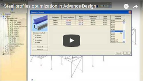 Steel profiles optimization