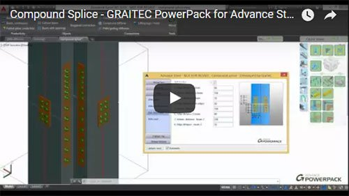 GRAITEC PowerPack for Advance Steel - Compound Splice