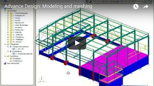 Advance Design: Modeling and meshing