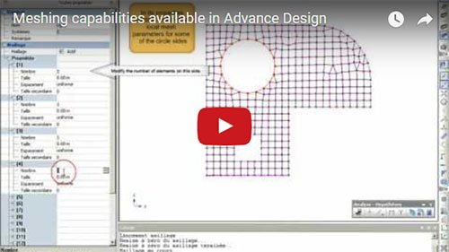 Meshing capabilities available in Advance Design
