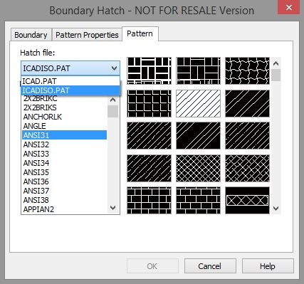 Choosing a hatch file