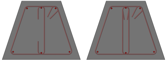 Trapezoidal column reinforcement types