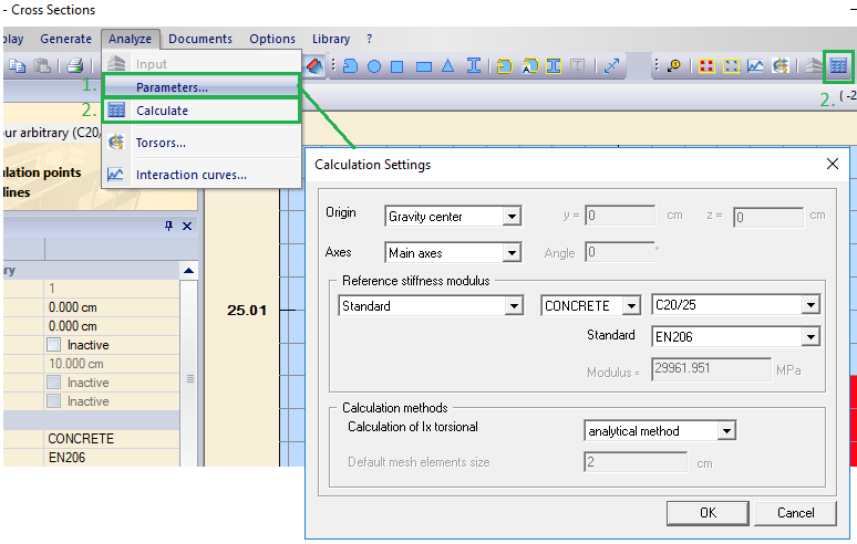 calculation settings method