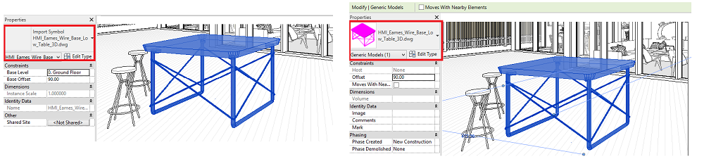 From Import Symbol DWG to Revit Generic Model Family
